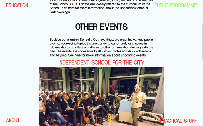 School for the City website 3