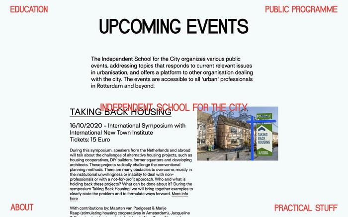 School for the City website 4