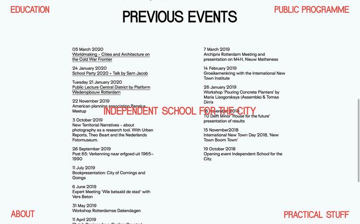 School for the City website 5