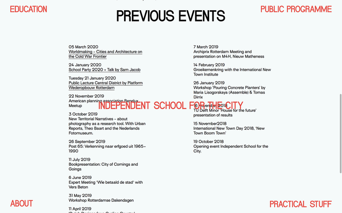 School for the City website 5