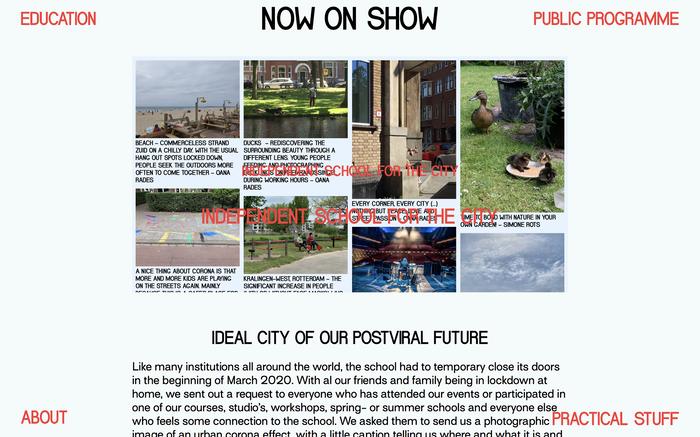 School for the City website 6