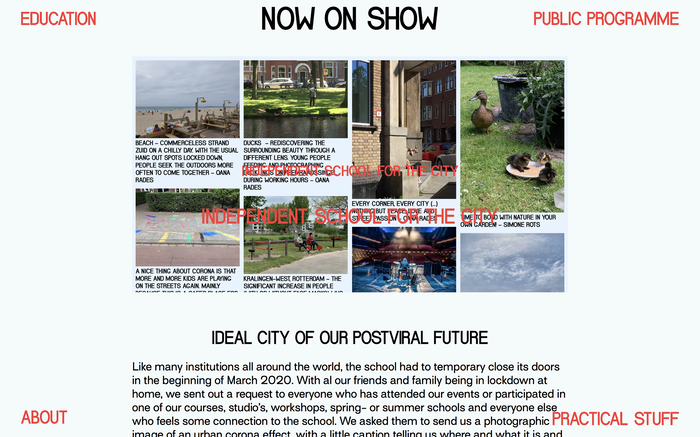 School for the City website 6