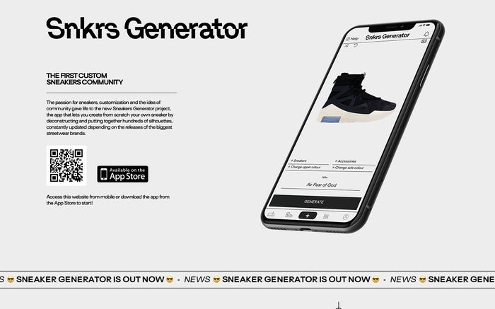 Sneakers Generator website 2
