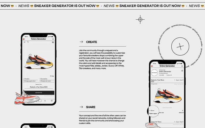 Sneakers Generator website 3