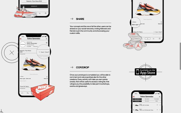 Sneakers Generator website 4