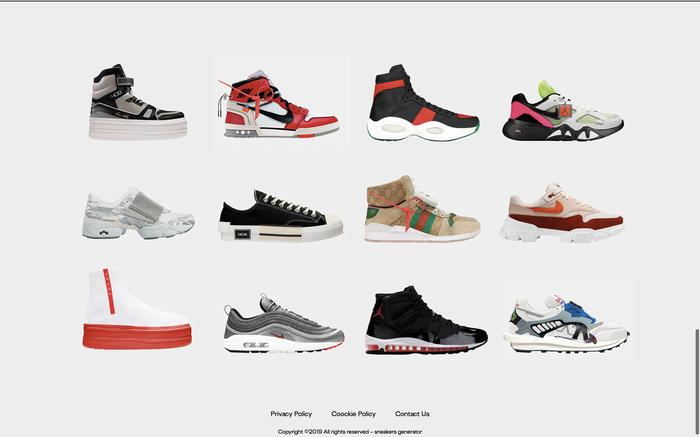 Sneakers Generator website 5