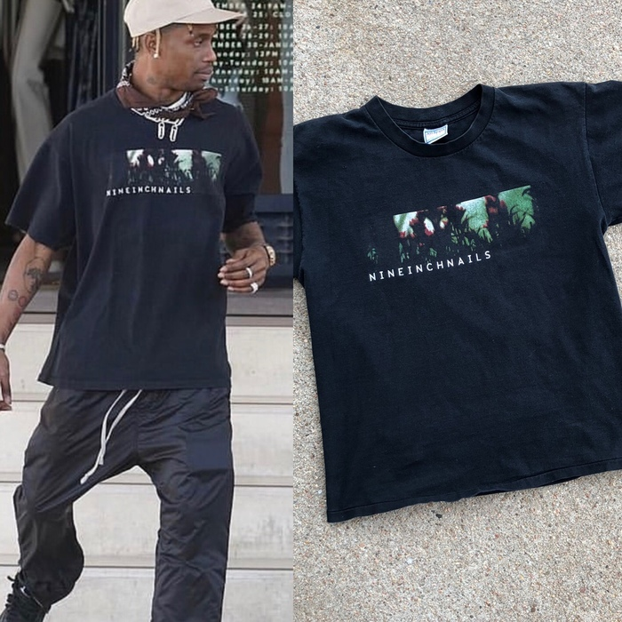 """The """"Fragile"""" T-shirt as worn by Travis Scott. Scott is not the only celebrity to have worn this shirt."""