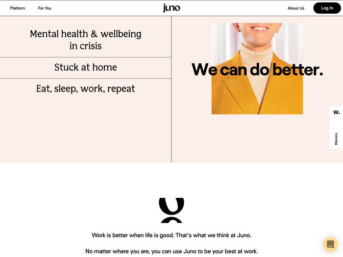 Juno website 2