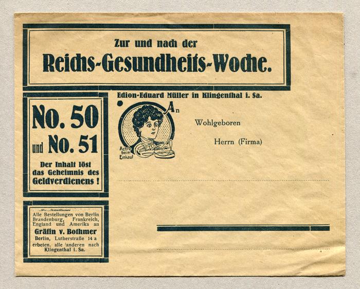 Edion-Eduard Müller advertising letter 1