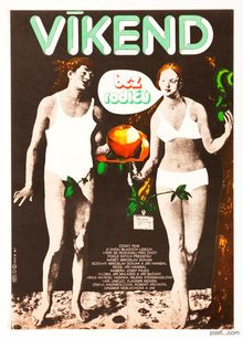 <cite>Víkend bez rodičů</cite> (1982) Czechoslovak movie poster