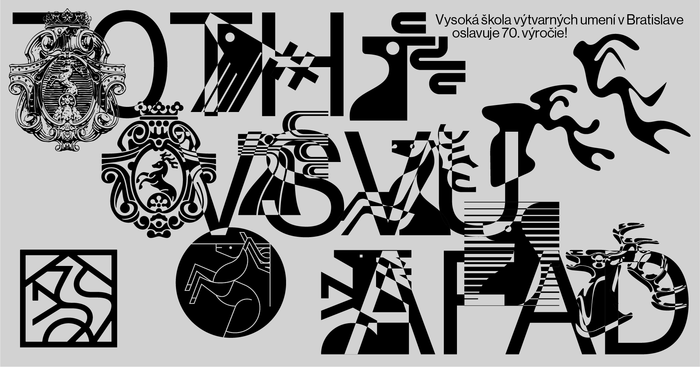 All the fake logotypes the studio created were used to promote the 2019 graduation show.