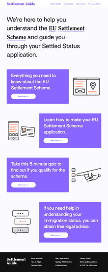 Settlement Scheme Guide for Young People