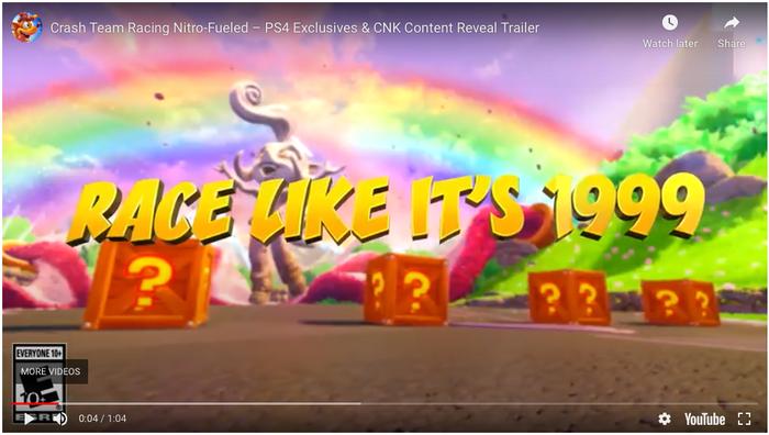 Crash Team Racing promotional trailer.