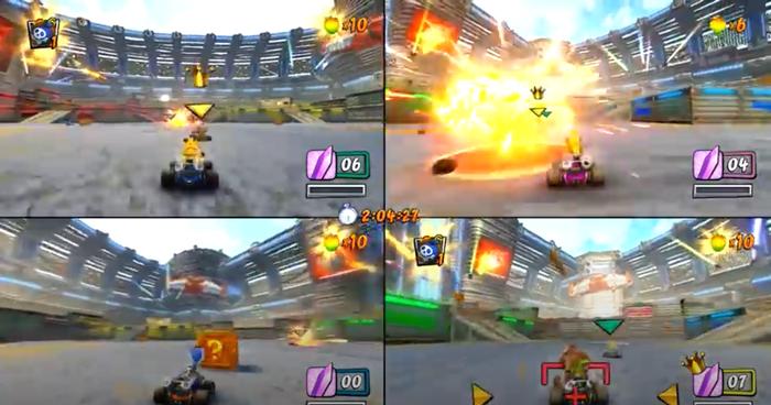 Crash Team Racing gameplay.