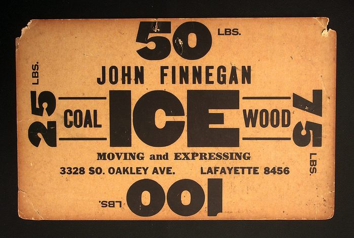 John Finnegan ice sign