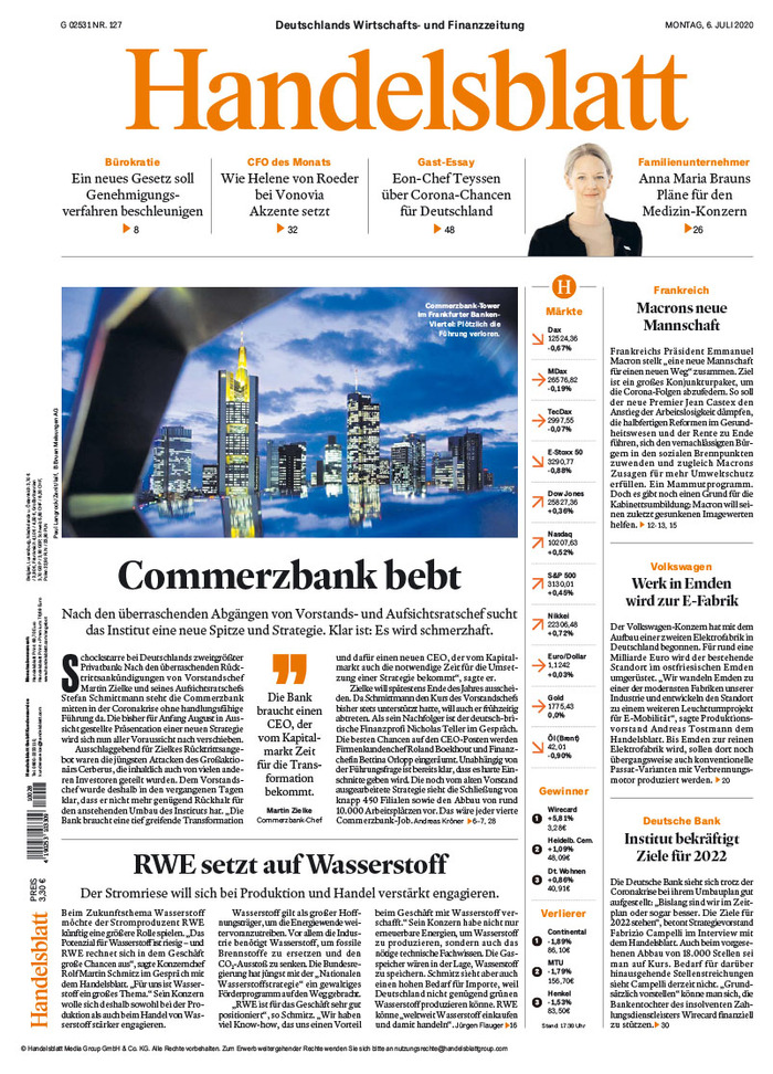Handelsblatt (2020 redesign) 1