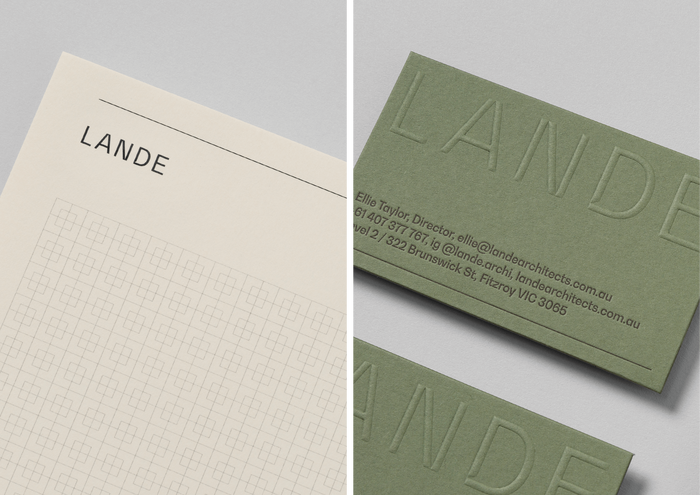 Project sheet and business card detail