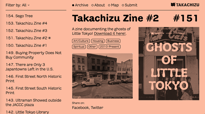 Takachizu exhibit, website, and zine 4