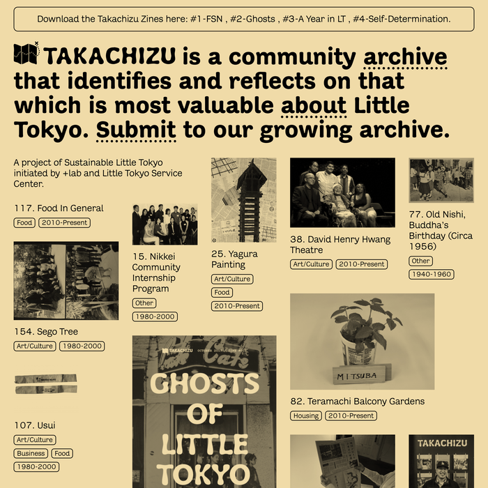 Takachizu exhibit, website, and zine 2