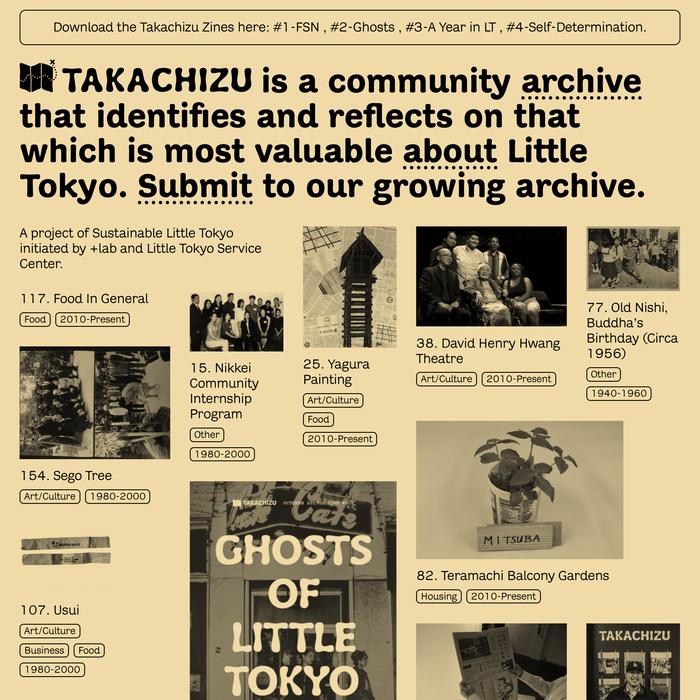 Takachizu exhibit, website, and zine 2