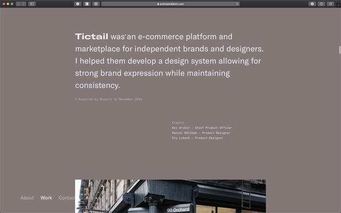 Andreas Källbom portfolio website 3