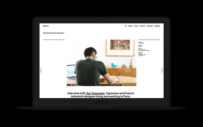 Ligature.ch website (2016–18 version) 3