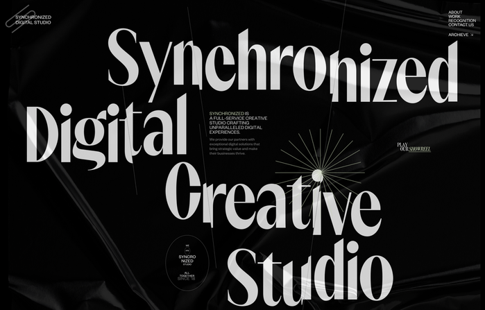 Synchronized studio website 1