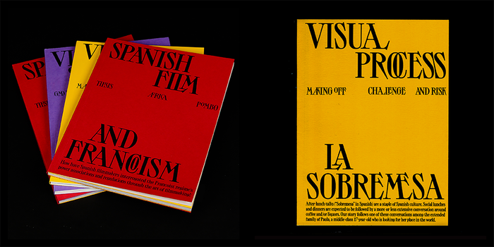 Left: thesis. Right: booklet, documenting the making of.