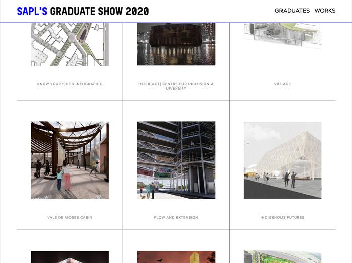 SAPL's graduate show 2020 website 4