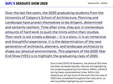 SAPL's graduate show 2020 website