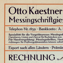 Otto Kaestner GmbH invoice and product catalog