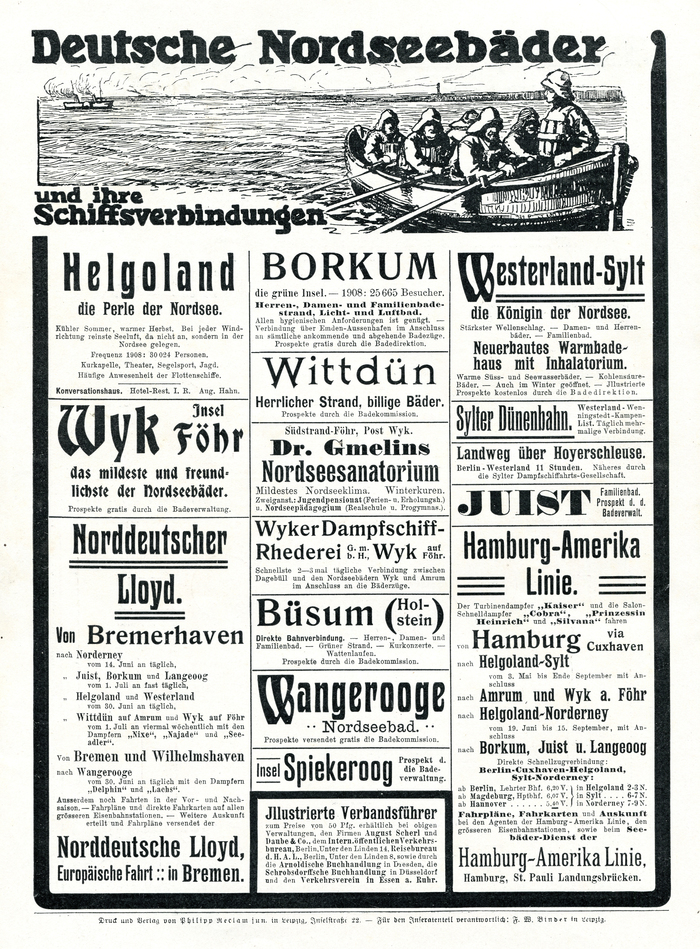 """Deutsche Nordseebäder"" ads in Reclams Universum (1909) 1"