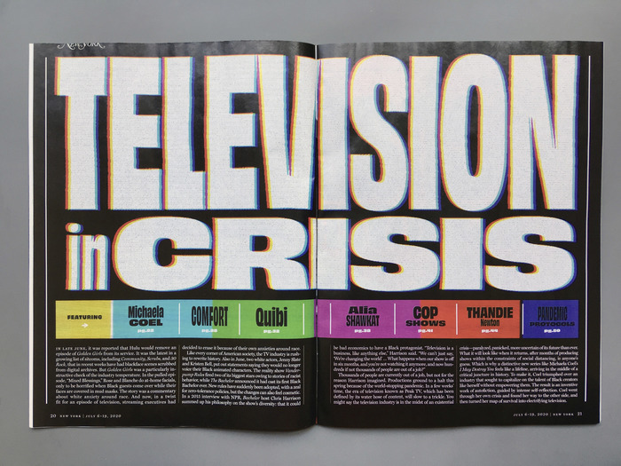 New York magazine's 'Television in Crisis' series 1