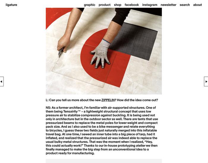 Ligature.ch website (2016–18 version) 7