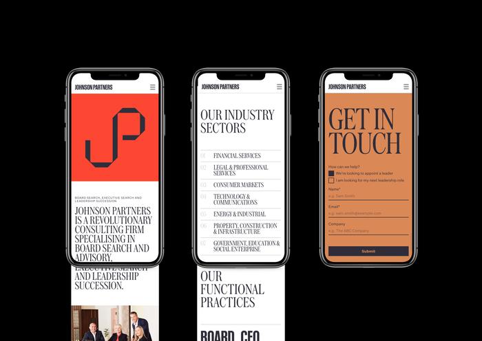 Johnson Partners website 8