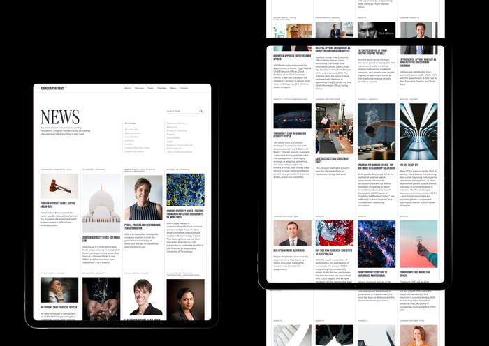 Johnson Partners website 4