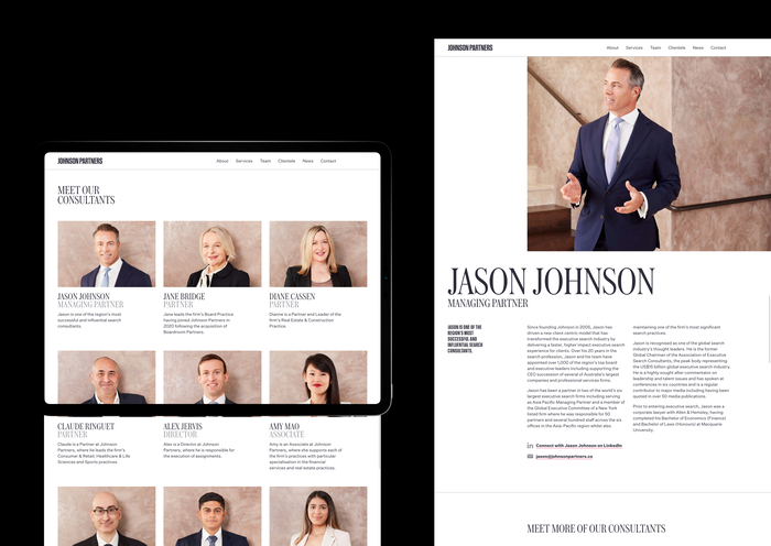 Johnson Partners website 5
