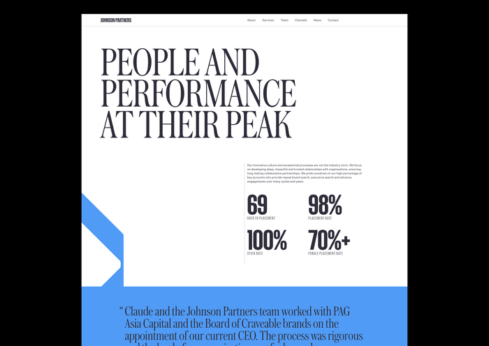 Johnson Partners website 1