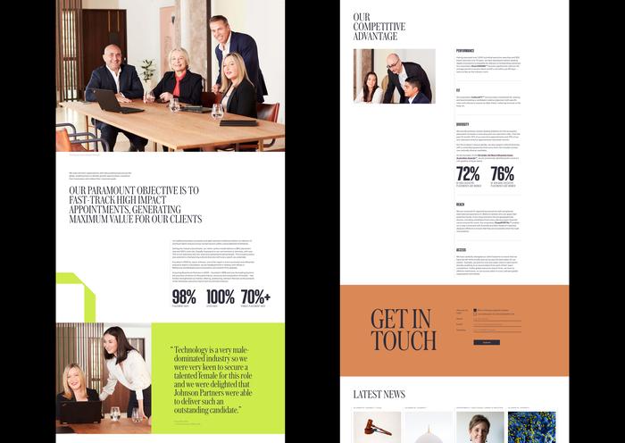 Johnson Partners website 3