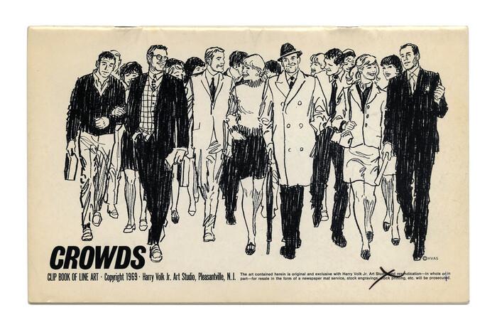 """""""Crowds"""" (No. 502) ft.  in italic caps."""