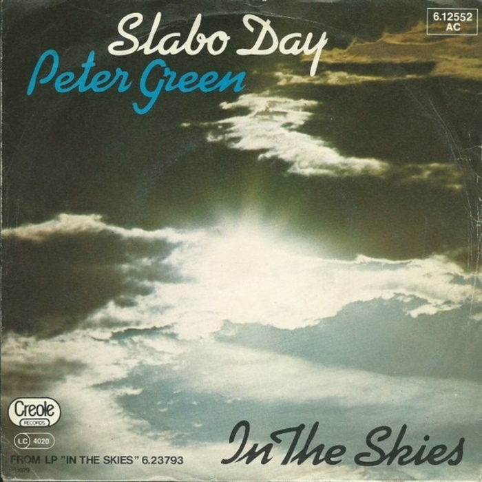 """Kaufmann was also used for the """"Slabo Day"""" / """"In The Skies"""" single sleeve. Its G was modified, apparently to avoid any overlap with the line above."""