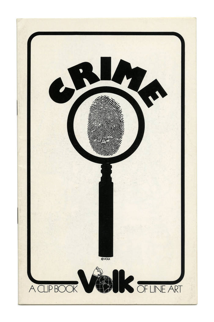 """Crime"" (No. 658), with  caps set on a circle."