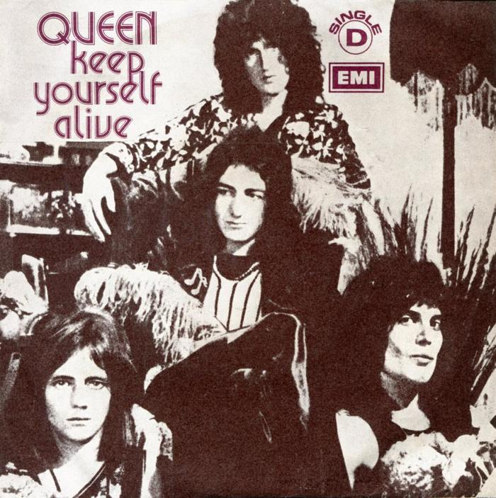 "Queen – ""Keep Yourself Alive"" Portuguese single sleeve"