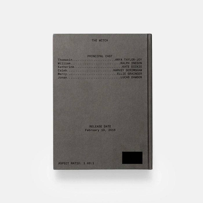 The Witch screenplay book, A24 5