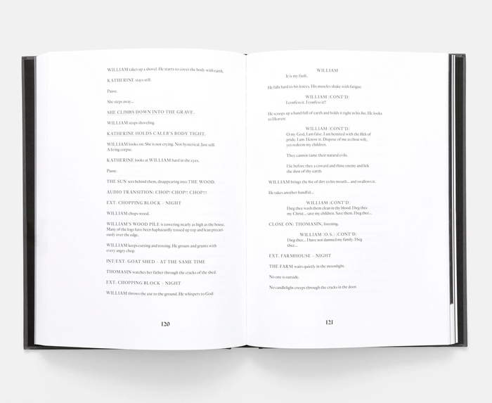 The Witch screenplay book, A24 3