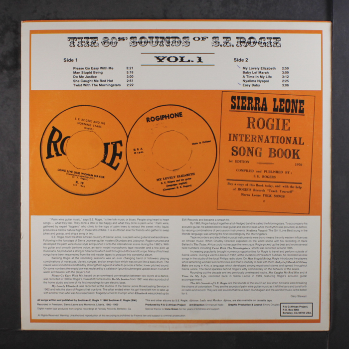 The 60s' Sounds Of S.E. Rogie, Vol. 1 2