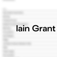 Iain Grant Sound portfolio website