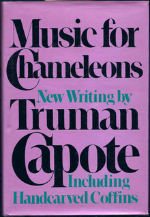 <cite>Music for Chameleons</cite> by Truman Capote (Random House, first edition)