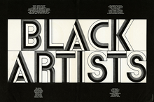 <cite>Black Artists</cite> exhibition poster