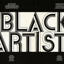 <cite>Black Artists</cite> exhibition poster